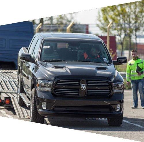 RAM trucks transport during importation in Europe