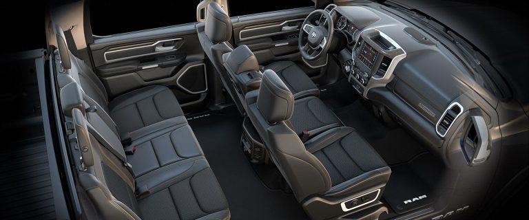 2019 Ram 1500 Interior Seats Laramie Black Bench