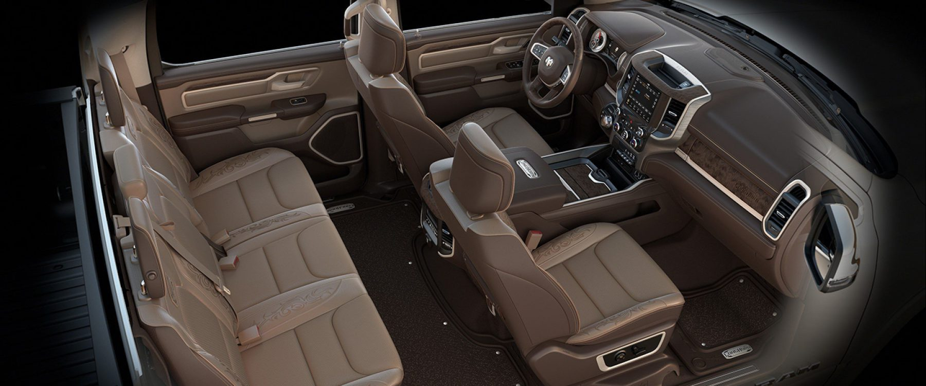2019 Ram 1500 Interior Seats Longhorn Natura plus filigree leather
