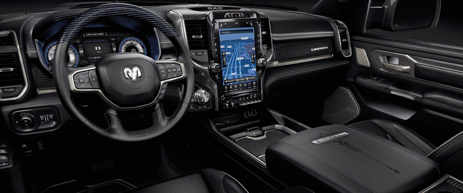 2019 Ram 1500 Interior Seats Limited black