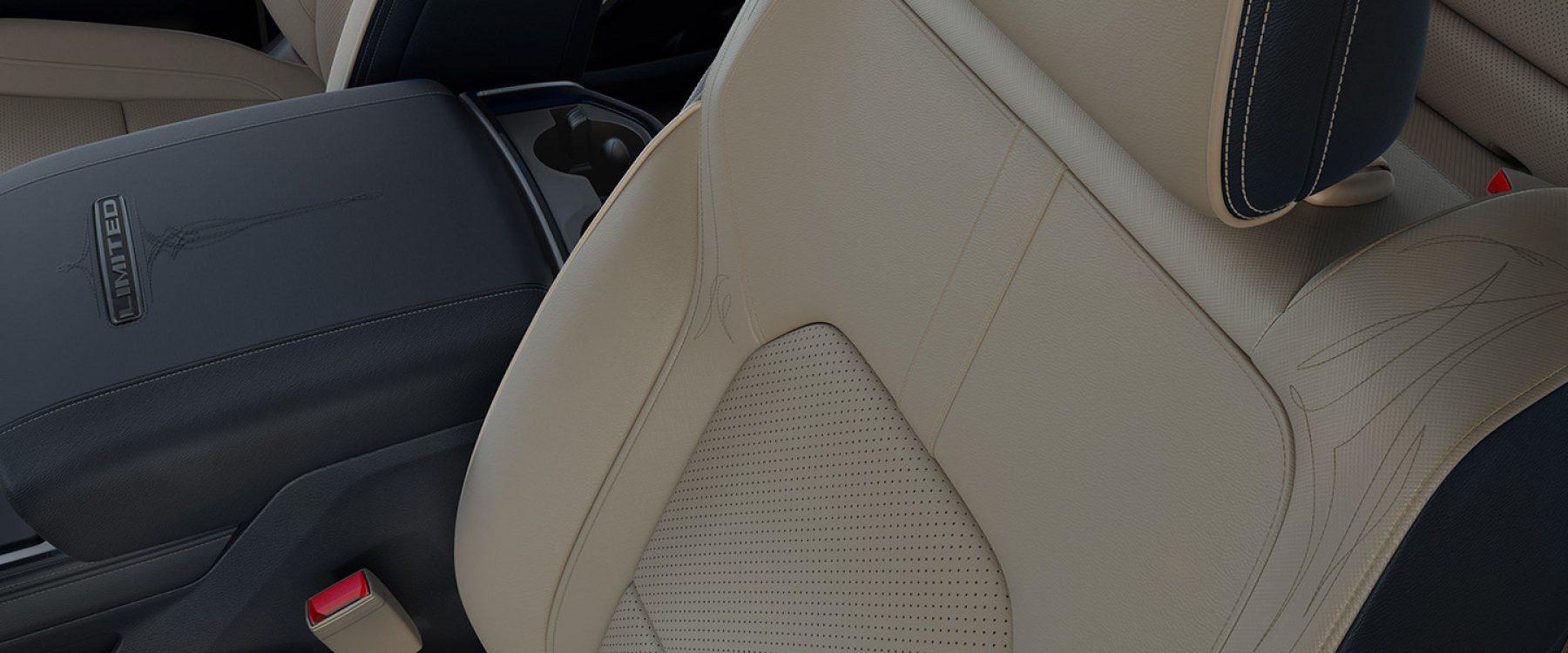 2019 Ram 1500 Interior Seats Limited indigo light frost beige