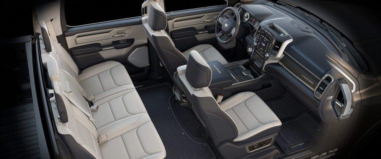 2019 Ram 1500 Interior Seats Limited Natura plus indigo light frost beige