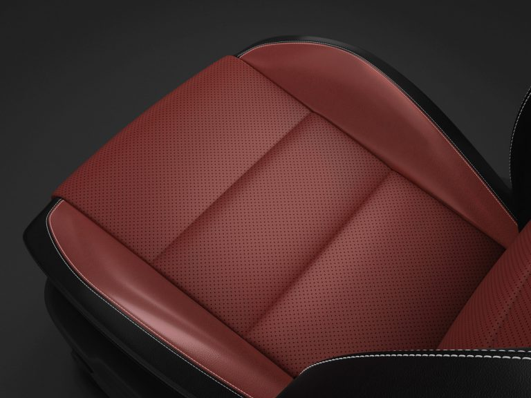 leather seats dodge 2019 red