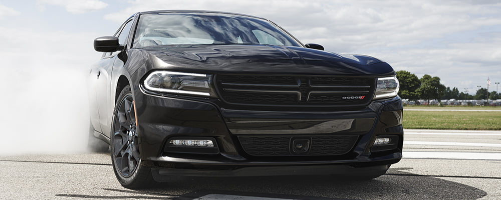 Dodge Charger black burnouts