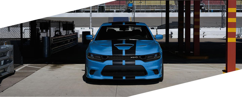Blue and black stripes Dodge Charger