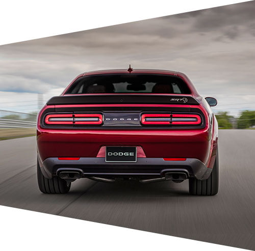 Back of Dodge Charger Hellcat