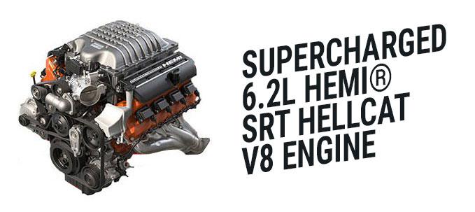 6.2 hellcat hemi engine dodge