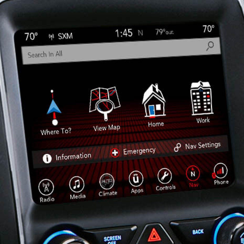 Display shows the navigator