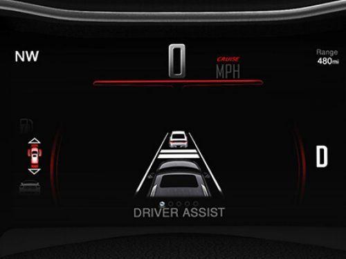 Driver assist display Dodge Durango