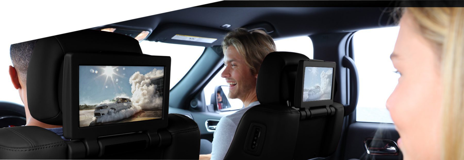 passengers use the integrated screens