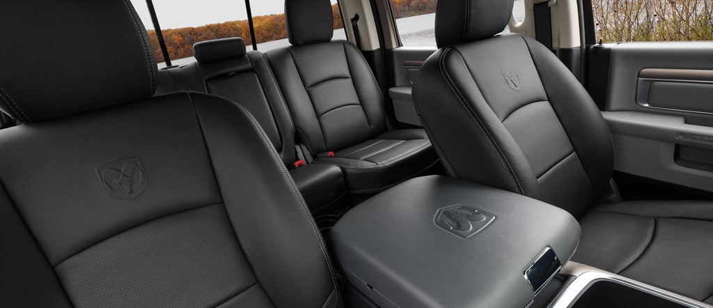 dodge ram 1500 premium leather seats interior