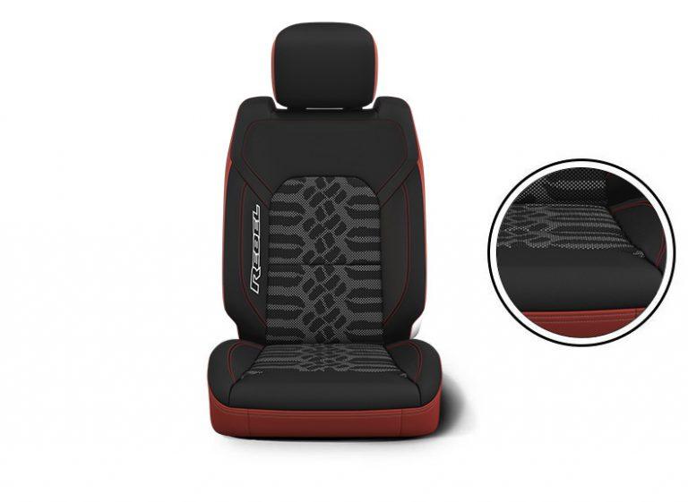 seats Ram Black/Dark Ruby Red