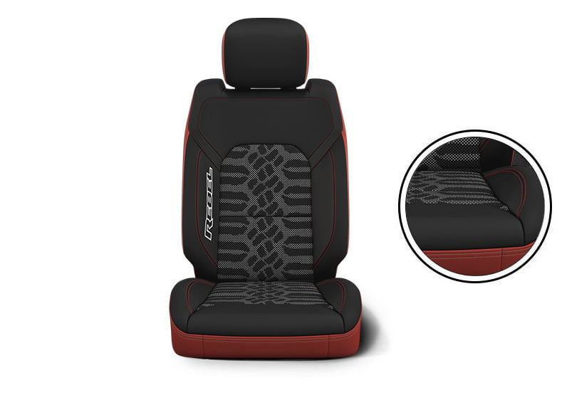 seats Ram Black/Dark Ruby Red