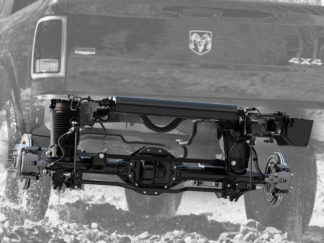 Five-Link Coil Spring Rear Suspension on ram 1500